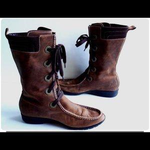 Cole Haan Mardi Brown leather waterproof boots